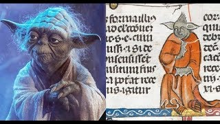 The image of the Star Wars Master Yoda found in the 14th century manuscript