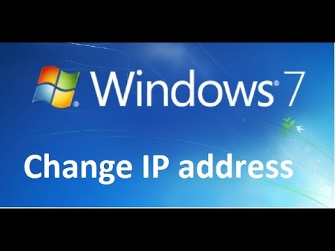 How to change IP address in Windows 7