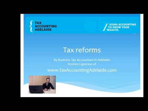 Australian tax changes and possible tax reforms for 2016