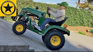 JOHN DEERE TRACTOR for Children gasoline powered Test DRIVE by Jack