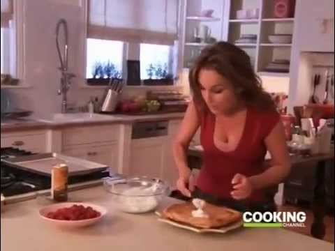Chicken Tetrazzini, Broccoli Florets with Meyer Lemon Olive Oil, Raspberry Almond Tart