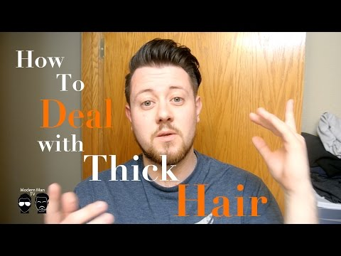 How to Deal with Thick Hair I Mens Slickback Hairstyle