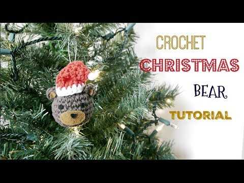 How to Make Crochet Christmas Bear Ornament