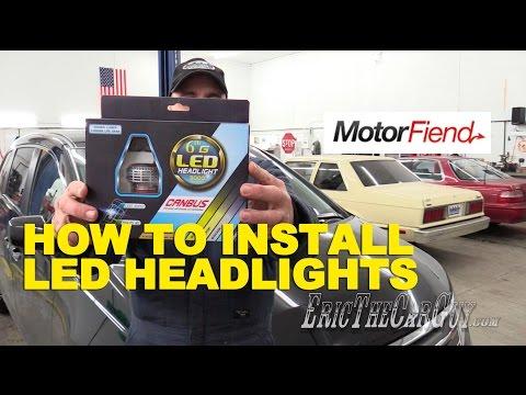 How To Install LED Headlights (2012 Honda Odyssey) -EricTheCarGuy