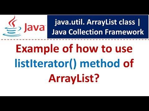 Java : Collection Framework : ArrayList (ListIterator)