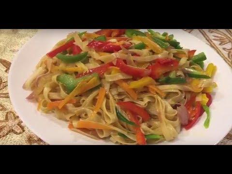 Stir Fried Flat Noodles With Vegetables