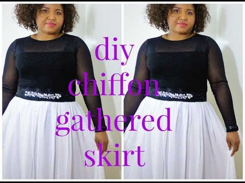 How to make chiffon gathered skirt