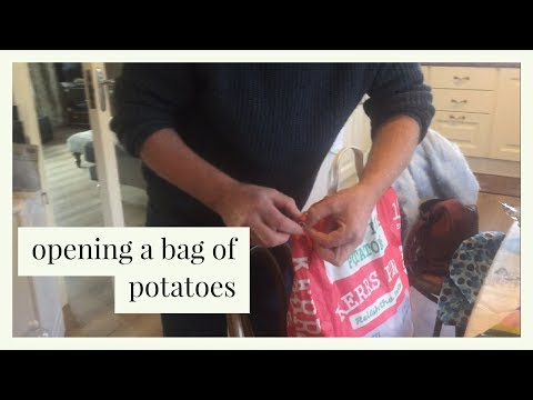 How to open a bag of spuds