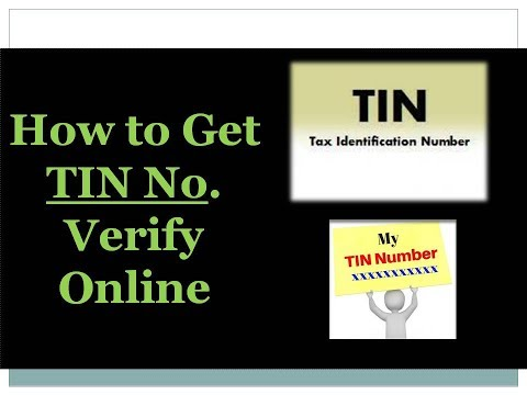 How to Verify TIN Number #Latest 2017