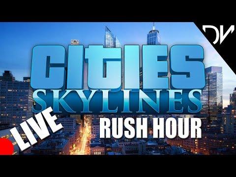 Cities Skylines - Rush Hour - Traffic Repair and road manipulation