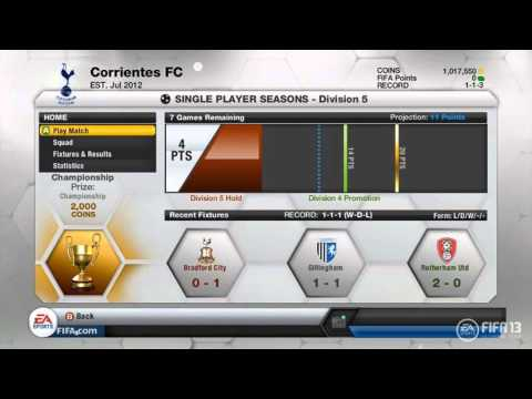 FIFA 13 Ultimate Team Information! FIFA Points, New menus and more!