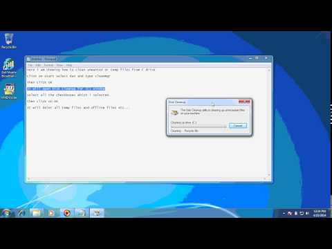 How to clean unwanted files from C drive