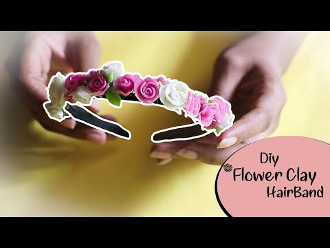 DIY Rose Clay hairband   clay projects  