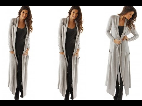 DIY How  To Make A   Maxi Cardigan (Easy Sewing)