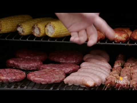 Richard Holden shows how much BBQ food fits onto the Traeger Wood Pellet Pro 22 Grill