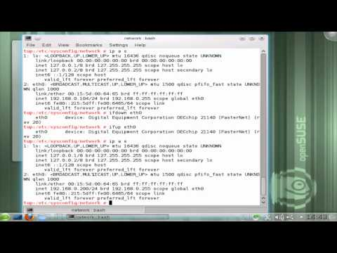 Learning Linux: Lesson 3 Configure the network and learn a little BASH history