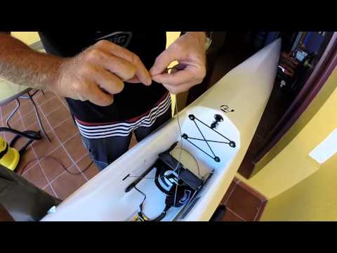 How to change surfski rudder line...the other way. With Oscar Chalupsky
