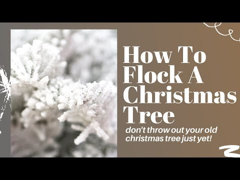 How to flock a Christmas tree by OhEverythingHandmade
