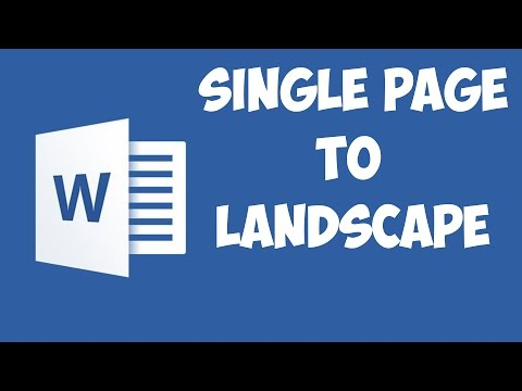 Word 2016 - Rotate a single page to landscape