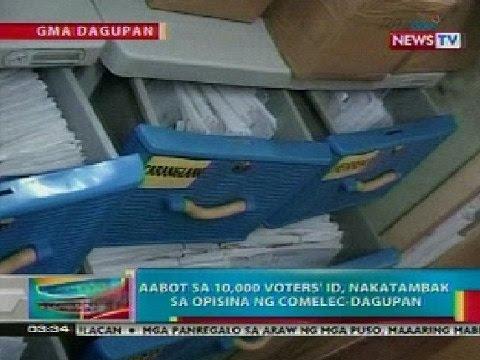 BP: Libu-libong voters' ID, nakatambak sa COMELEC-Dagupan