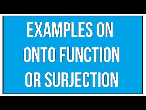 Examples On Onto Function Or Surjection / Maths Algebra
