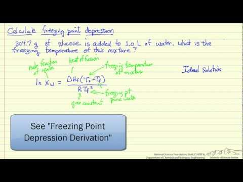 Calculate Freezing Point Depression