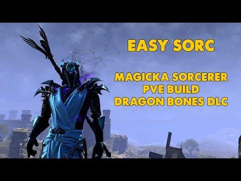 ESO - Easy Sorc - Magicka sorcerer PVE Build - (Dragon Bones)
