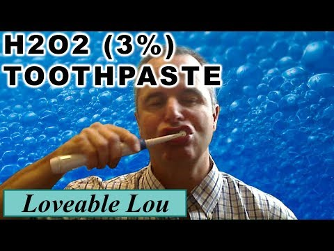 H2O2, (Hydrogen Peroxide 3%) for Brushing your Teeth