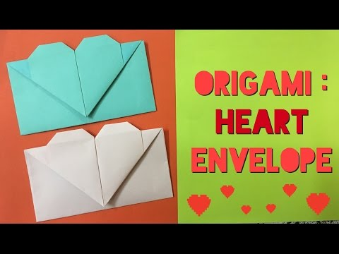 How to Make a Paper Heart Envelope from A4 sheet - Easy Tutorials