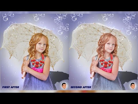 How to add dreamy bubbles and stars in photoshop