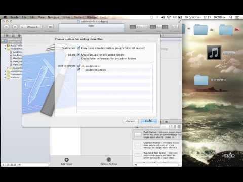 Xcode ses dosyası ekleme