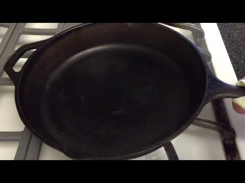 How to clean sugar off a cast iron pan