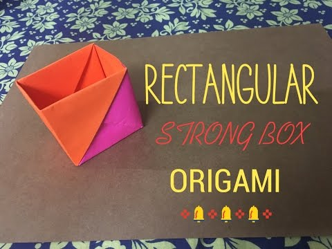 Strong Rectangular Box Origami Tutorial - Easy Crafts