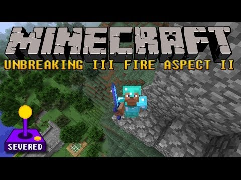 Minecraft Diamond Sword 30 Enchantment Unbreaking III Fire Aspect II - What does this do?
