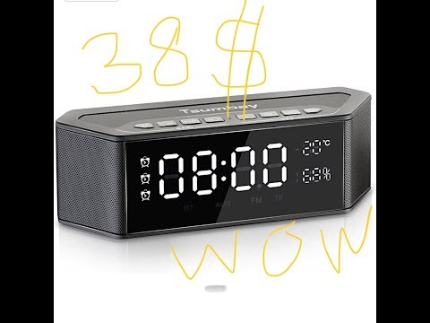 tsumbay  wireless bluetooth clock speaker unbox and review