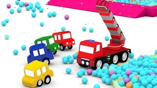 Lehrreicher Zeichentrickfilm - Die 4 kleinen Autos - Das Feuerwehrauto