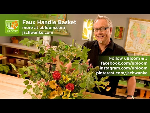 How to create the Faux Handle Basket!