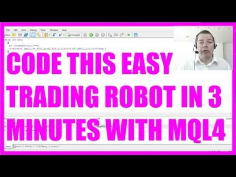 WHY MQL4? Code this easy trading robot in 3 minutes!