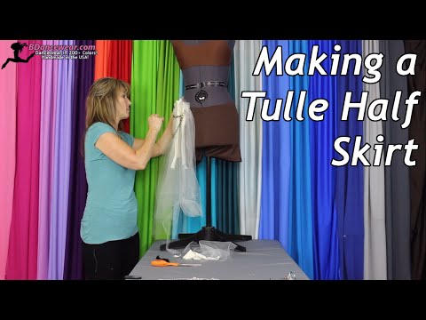 Making a Tulle Half Skirt