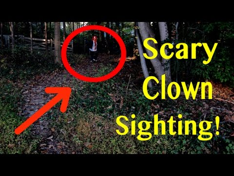 CREEPY CLOWN SIGHTING CAUGHT ON CAMERA!! ✅