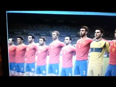 Italy + Spain National Anthems PES 2013 *NOT FAKE*