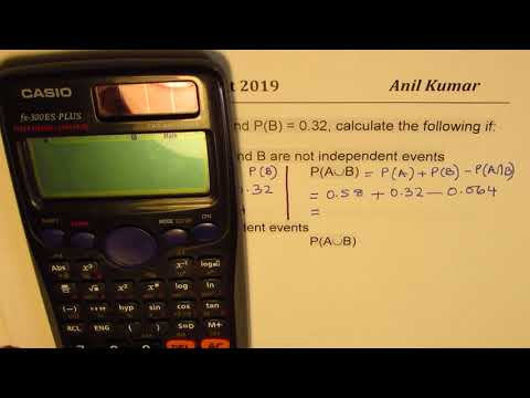 Dependent Independent and Conditional Probability with Union and Intersection