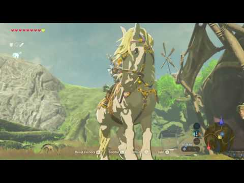 Zelda Breath of The Wild Catching the Royal White Stallion Quest Walkthrough New Gameplay Footage
