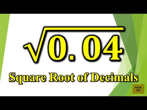 Square Root of Decimals