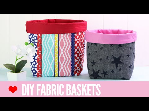 Fabric Basket Tutorial: How to Make Fabric Baskets in 5 Sizes