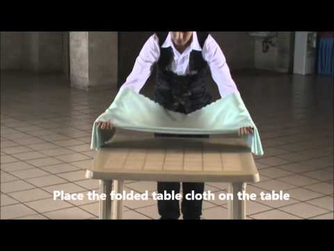 Laying The Table Cloth