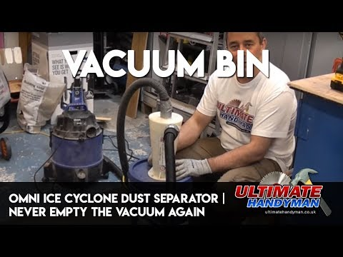 omni ICE cyclone dust separator   never empty the vacuum again