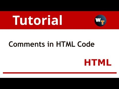 HTML Tutorials: How to add comments to HTML code?