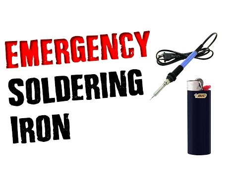 Make a Soldering Iron With a LIGHTER & Do Repairs ANYWHERE!