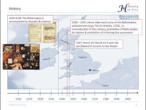 The English Reformation (16c)